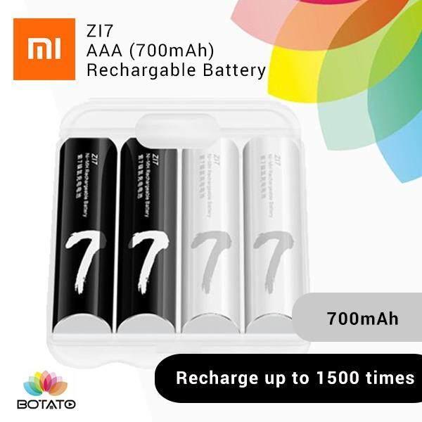 [[Xiaomi AAA Battery]] 4pcs Xiaomi ZI7 AAA 700mAh 1.2V Rechargeable Ni-MH Battery-WHITE AND BLACK [[Botato Electronic]]