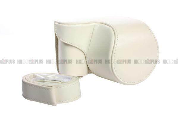 Sarung Kamera Kulit untuk Sony NEX-3N A5000 Putih-Intl
