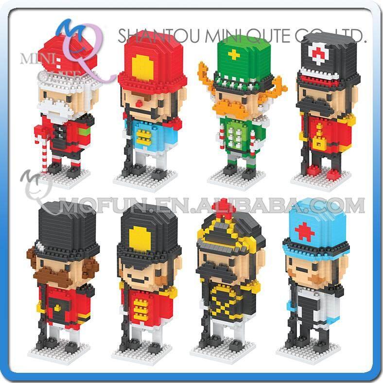 Full Set 8pcs/lot Mini Qute BOYU BY The Nutcracker soldier building blocks bricks cartoon model action figures educational toy