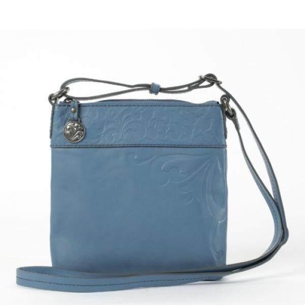 Jim Shore Gracie Embossed Leather/Blue Handbag - intl