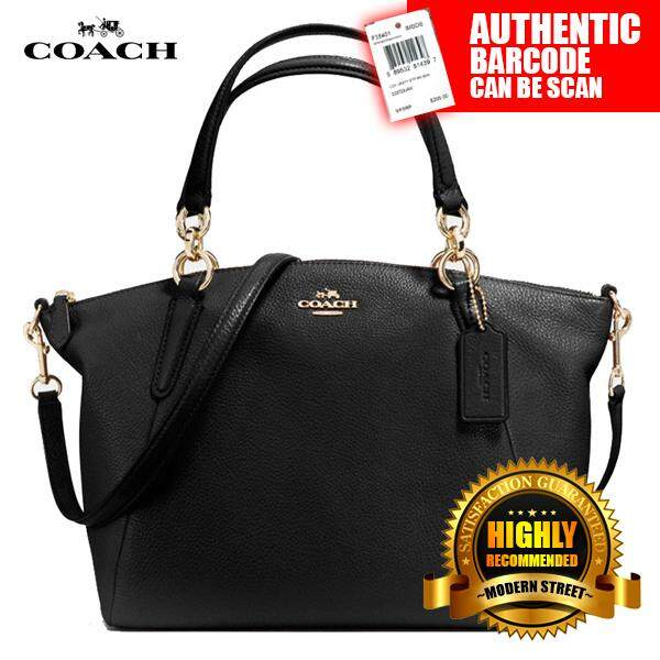 Coach F36675 Nwt Small Kelsey Satchel In Pebble Leather Imblk Black