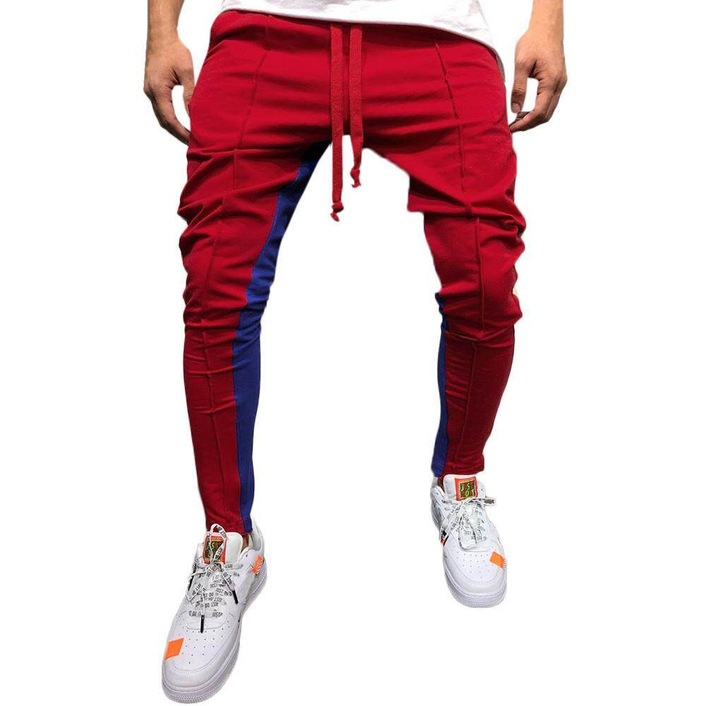 bbf8205f6a8d Joomia Free Shipping Fashion Men's Casual Solid Loose Patchwork Color  Sweatpant Trousers Jogger Pant