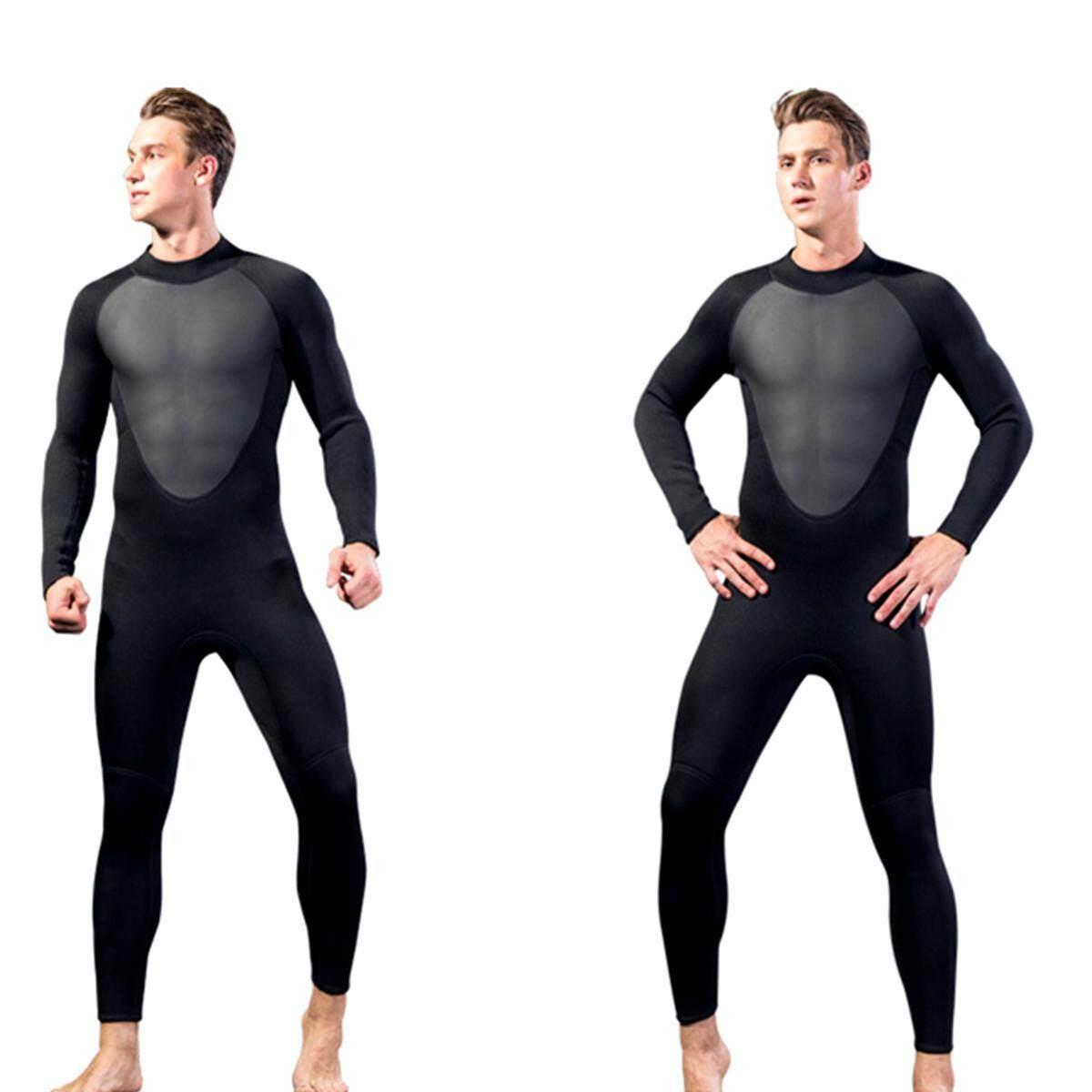 efb8441e478 【Flash Deal】MEN WetSuit 3MM Full Body suit Super stretch Diving Suit Swim  Surf
