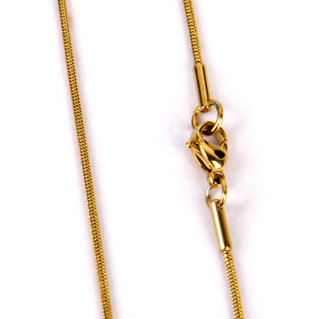 Guangquanstrade 2mm 20 Stainless Steel 24k Gold Filled Snake Chain Necklace & Lobster Clasp By Guangquanstrade.