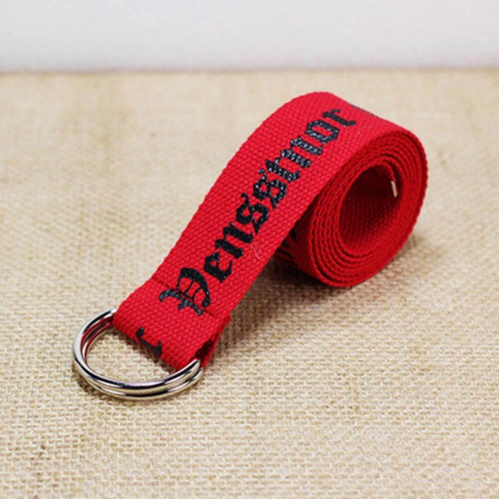 130cm Fashion Neutral Nylon Canvas Belt Printing Thai D Ring Double Buckle Student Belt CZL8194