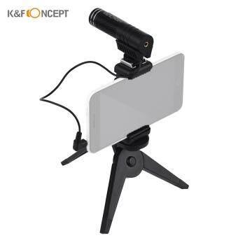 Price Checker K & F Concept Mikrofon Ponsel Kariodia Direksional Eksternal Podcast Video Kondensor Ponsel Mikrofon