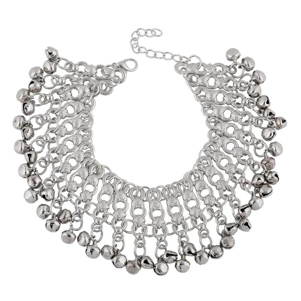 Light Mode Untuk Wanita Indah Perak Gelang Kaki Bel Pantai Perhiasan Kaki By Lumiparty.