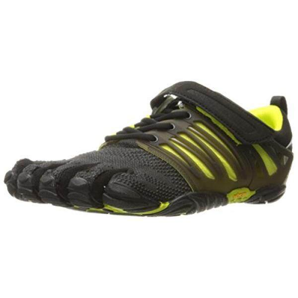 cheap for discount aac1f 415e1 Vibram Mens V-Train Cross-Trainer Shoe, Black Green, 44 EU