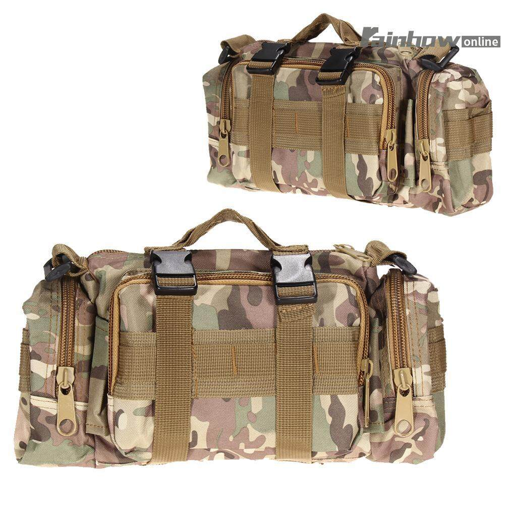 Hình ảnh Outdoor Military Tactical Waist Pack Molle Camping Hiking Pouch Bag - intl