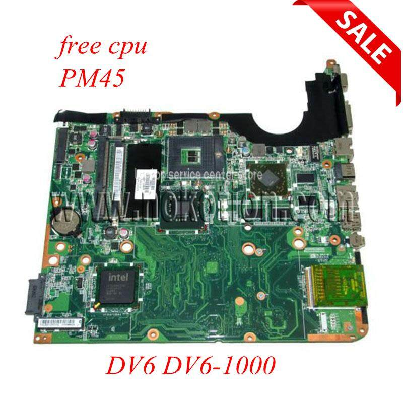 NOKOTION 578377-001 Laptop motherboard For Hp Pavilion DV6 DV6-1000 Main board PM45 DDR3 with Graphics Card CPU - intl
