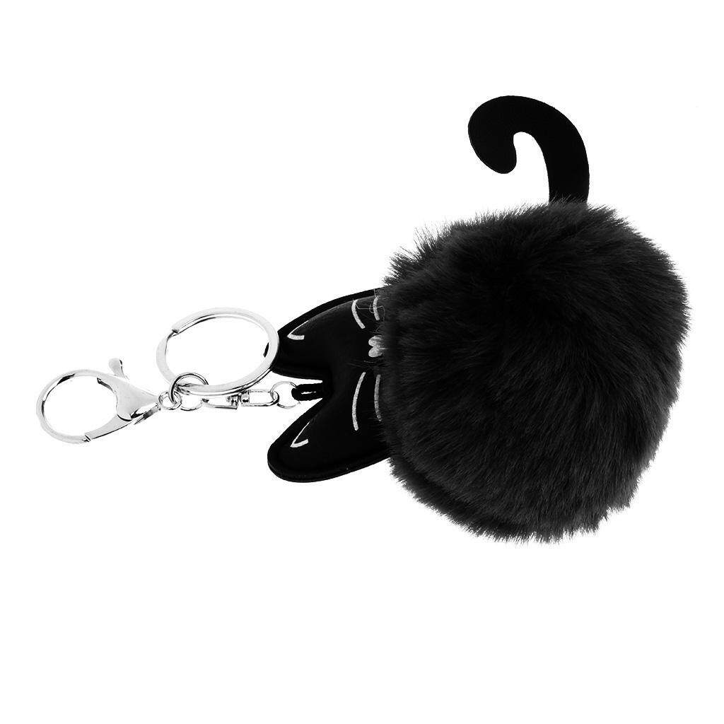 BolehDeals Cute Cat Faux Fur Animal Cartoon Kids Toys Birthday Gift Charm Handbag Purse Pendant Keychain