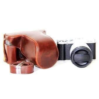 J Hex Penjualan Panas Yang Dapat Dilepas Keras PU Kulit Kasus untuk Fujifilm XA10 X-A10 Alloy Base Case Penuh Lensa Penutup Halus 3 warna-Intl