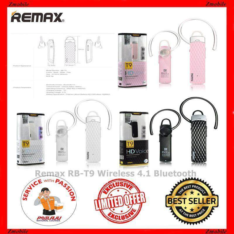REMAX RB T9 HD Voice Bluetooth Headset Upto 8 Hours Continuous Play