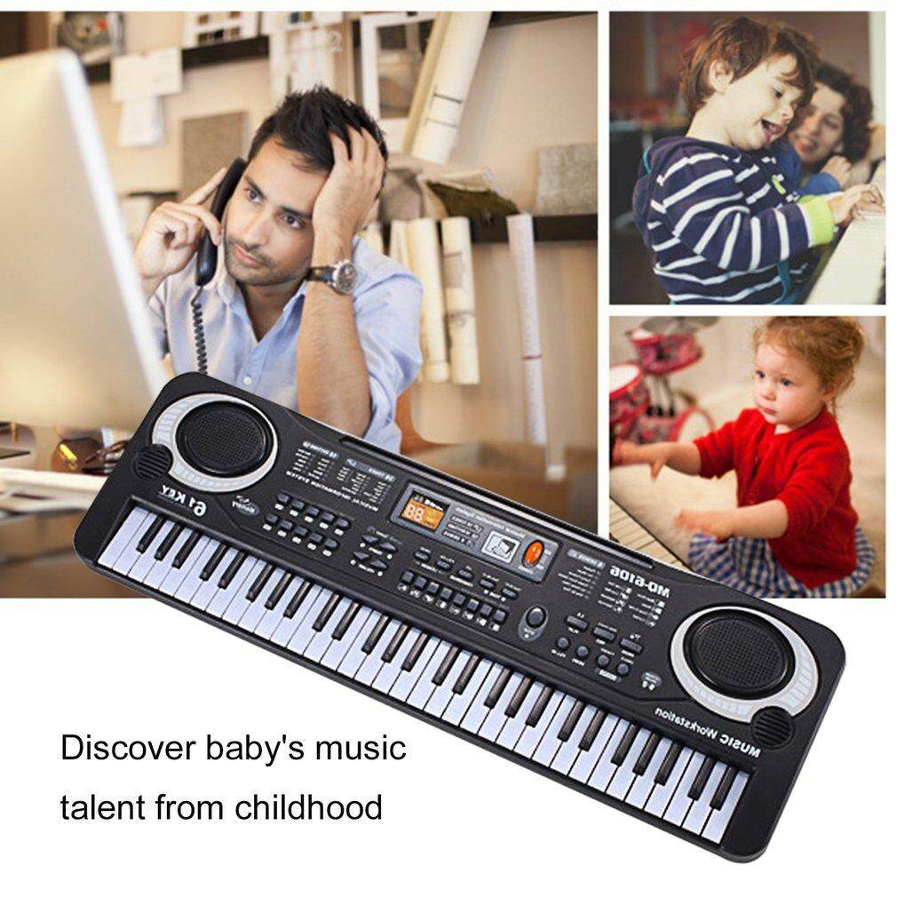 GOFT 61 Keys Electronic Piano Keyboard With Microphone Children Musical Instrument