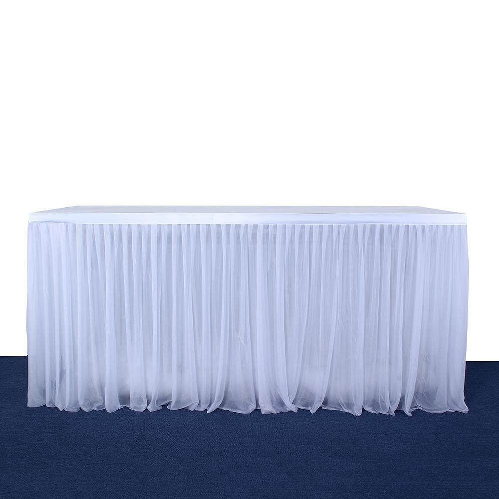 Excellent Goodgreat 3 Yards Tutu Table Skirt 3 Layers Elastic Yarn Tulle Table Skirt For Rectangle Round Table Tableware Fluffy Mesh Table Cloth For Dinner Download Free Architecture Designs Grimeyleaguecom