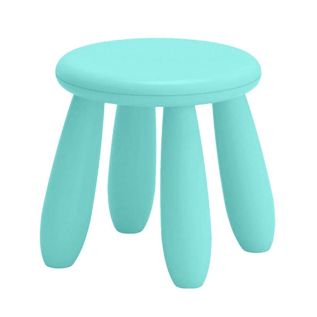 BolehDeals Assembling Children Chair Round Shape School Nursery Kids Stool Lake Blue