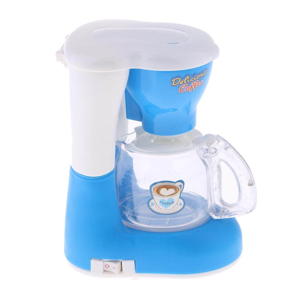 Hình ảnh MagiDeal Mini Electronic Coffee Machine Toy for Kids Home Appliances Toy Children Pretend Play Kitchen Furniture Toy for Girls Birthday Xmas Gift Blue