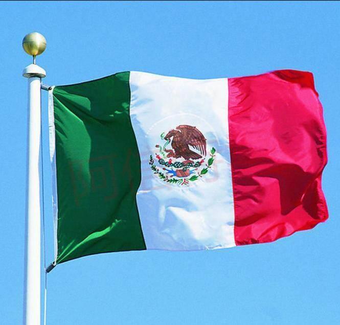 Fanestiy Desain Baru X5 'Persegi Nasional Bendera Meksiko Meksiko Bendera Negara Grommet Poliester