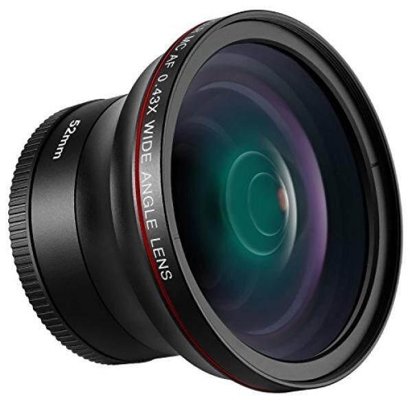 Neewer 52 Mm 0.43X HD Sudut Lebar Lensa dengan Penutup Makro-Up Lensa Porsi Tidak Ada Distorsi Digital Definisi Tinggi untuk Nikon D7100 d7000 D5200 D5100 D5000 D3300 D3200 D3000 D90 D80 Kamera DSLR-Intl