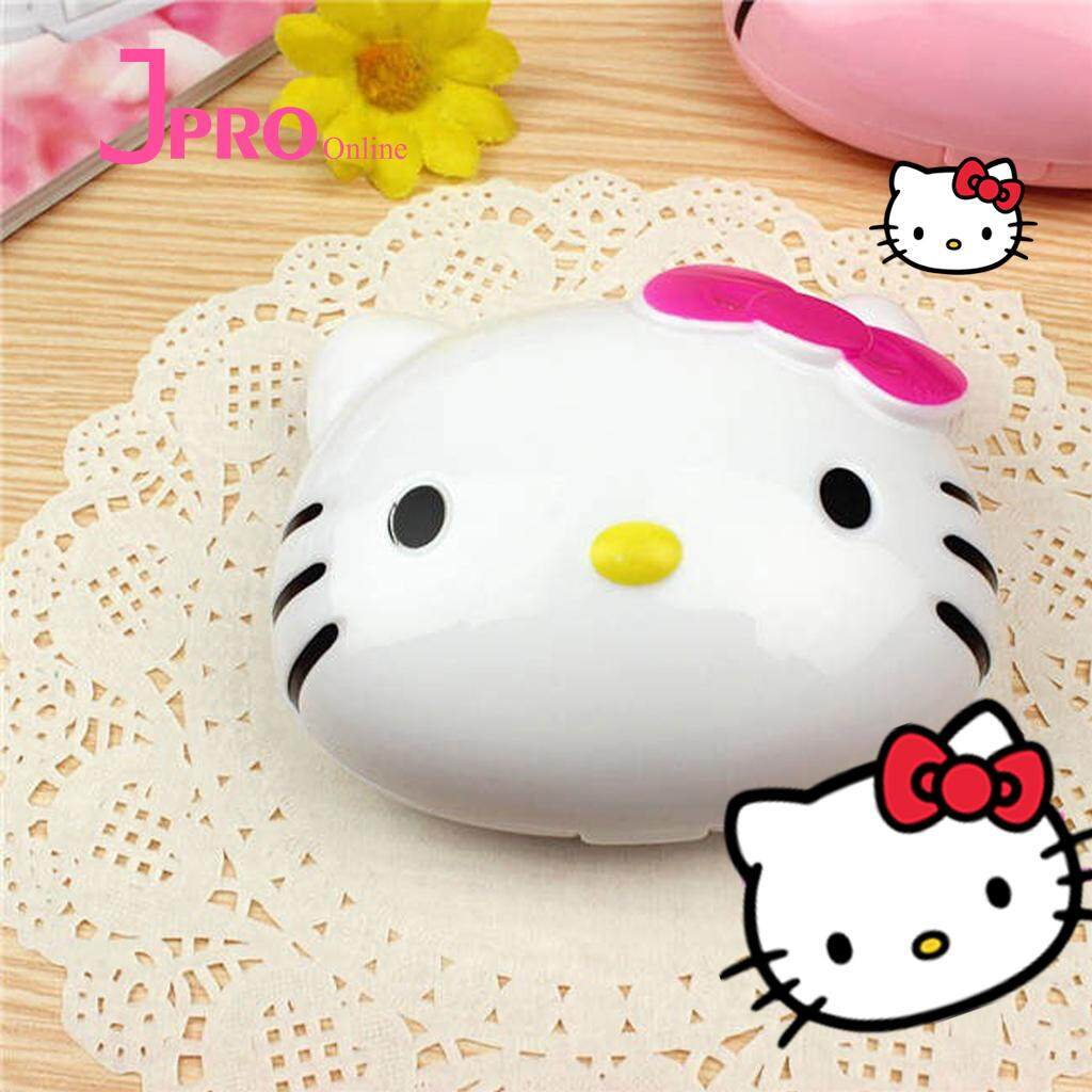 Cute Hello Kitty Contact Lens Case With Mirror Storage Container Travel Portable