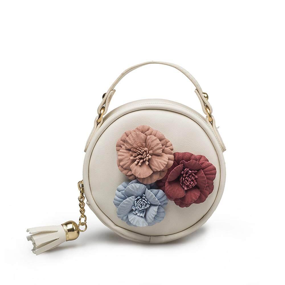 Amart แฟชั่นผู้หญิงกระเป๋าถือดอกไม้พู่ Pu กันน้ำกระเป๋าสะพายไหล่กระเป๋าเอกสาร - Intl.