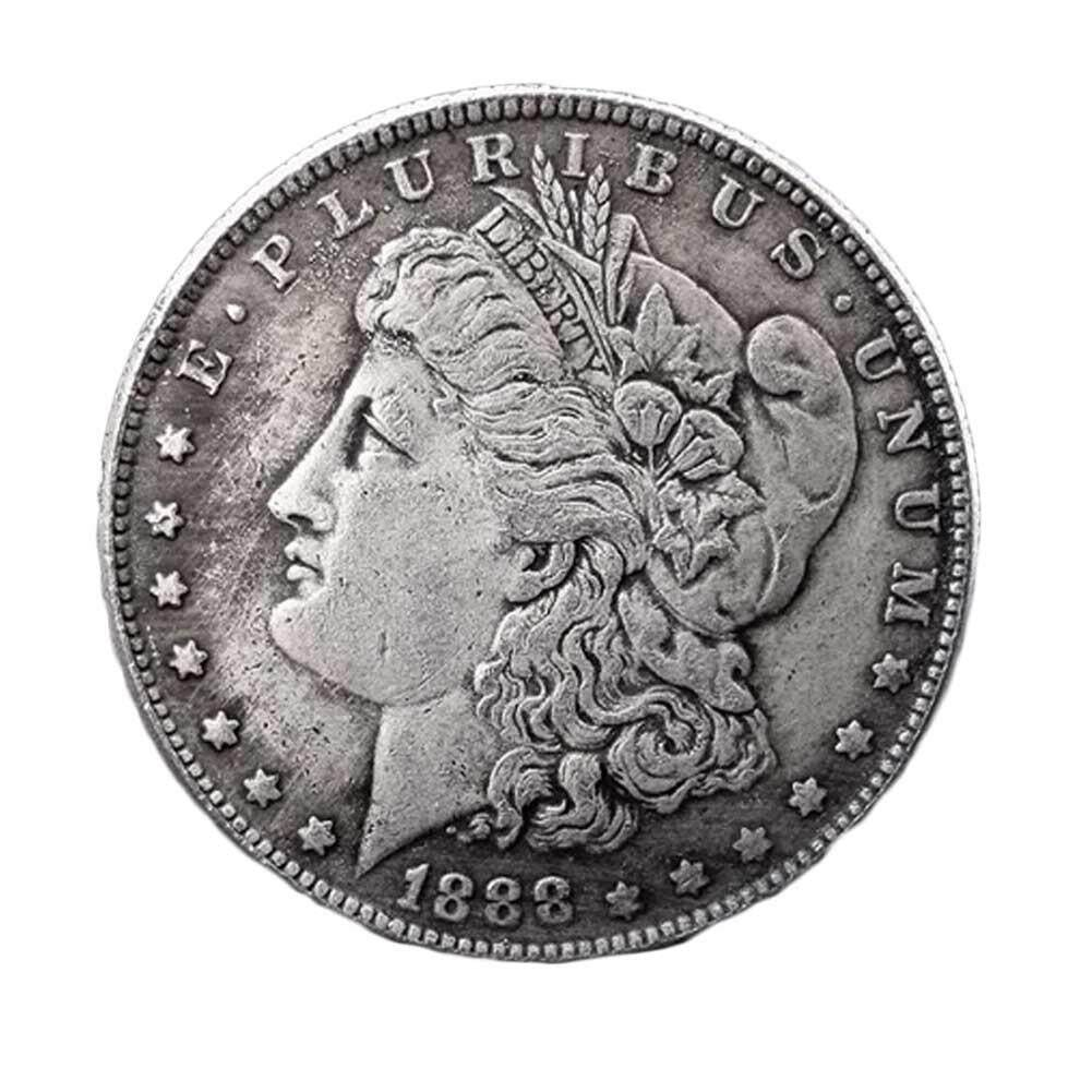 Bzy American 1888 Silver Dollar Currency Morgan Antique Commemorative Cellectible Coins By Beautyzy.