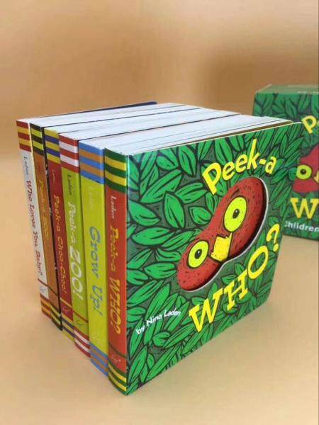 Peek-a-Who Children Baby English Cardboard Hard Board Book