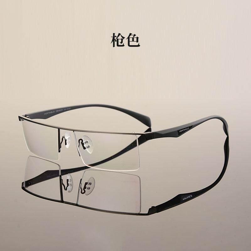 Kacamata minus pria Kotak Setengah Sangat Ringan bingkai kacamata Paduan  Titanium Bingkai Kacamata tidak berderajat 眼睛 e0ee10fa79