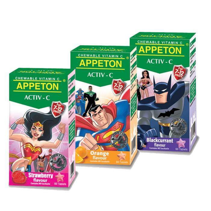 APPETON ACTIV-C (7-12YEARS) 100MG 60'S  (ORANGE FLAVOUR)