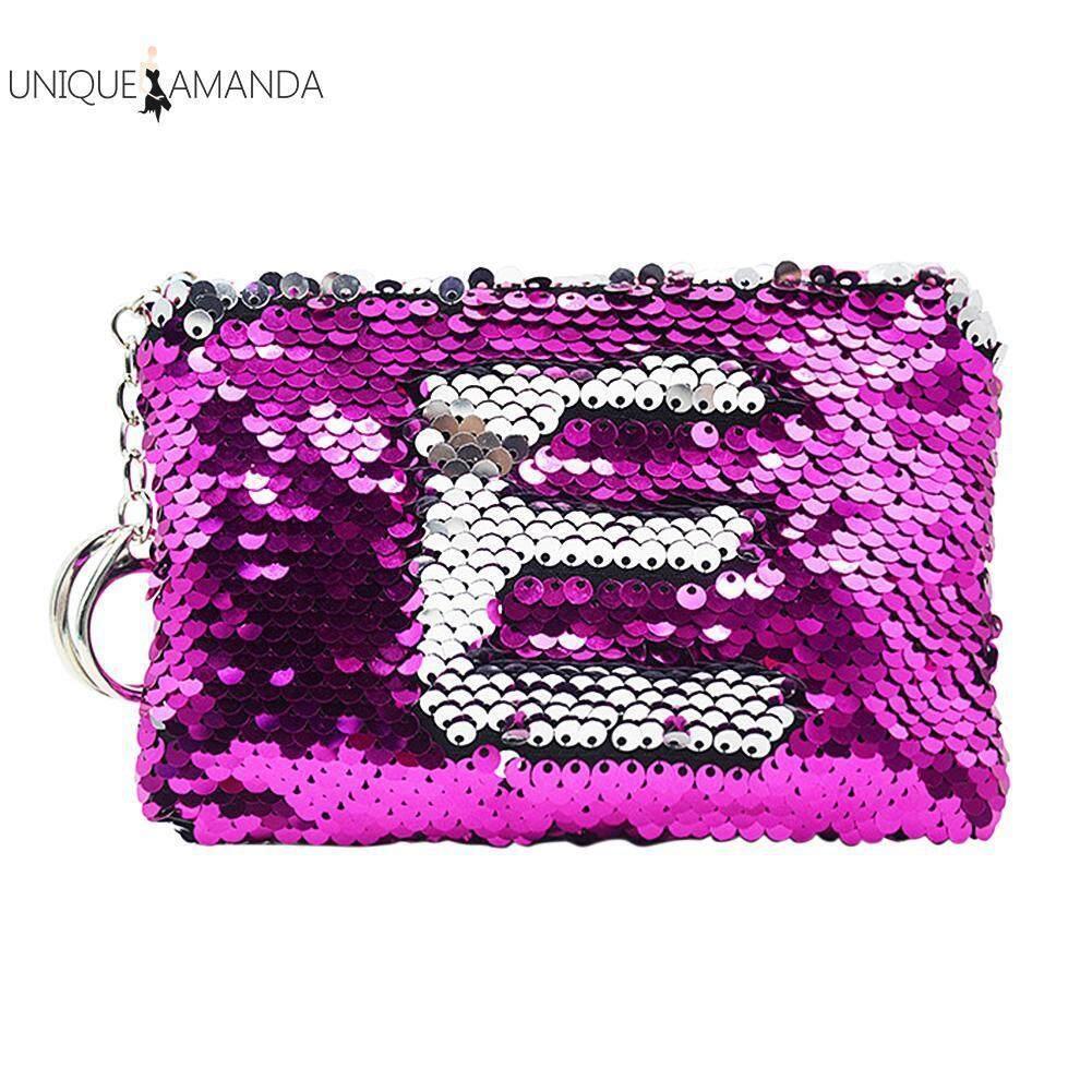 Cute Girls Portable Keychain Sequins Change Purse Zipper Wallet Glitter Bag Giá Siêu Rẻ ..
