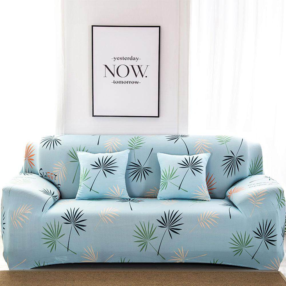niceEshop Home Living European Style Floral Printed Sofa Cover 2 Person Sofa Elastic Cover,Cushion Cover Not Included - intl