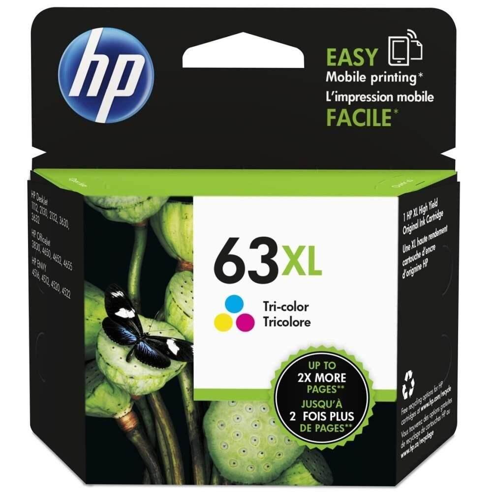 HP 63XL Tri-color Ink Cartridge (F6U63AA)