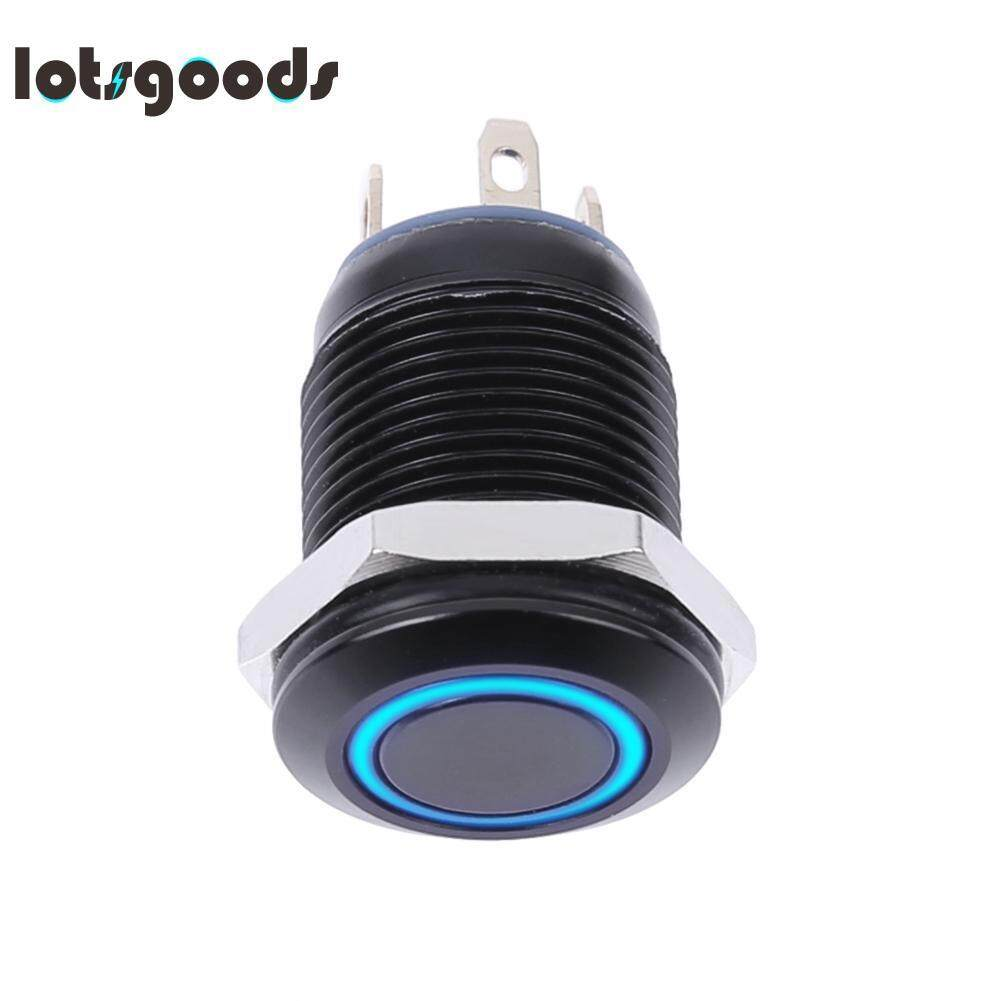 Car Switches For Sale Auto Online Brands Prices Electrical Wiring Diagram 2000 Toyota Land Cruiser Prado 12mm Waterproof Flat Top Blue Led Metal Monmentary Push Button Switch