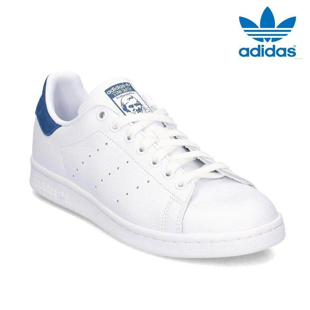 df48663f28a2 Adidas 2018 New Originals Stan Smith CQ2208 White Blue Sneakers