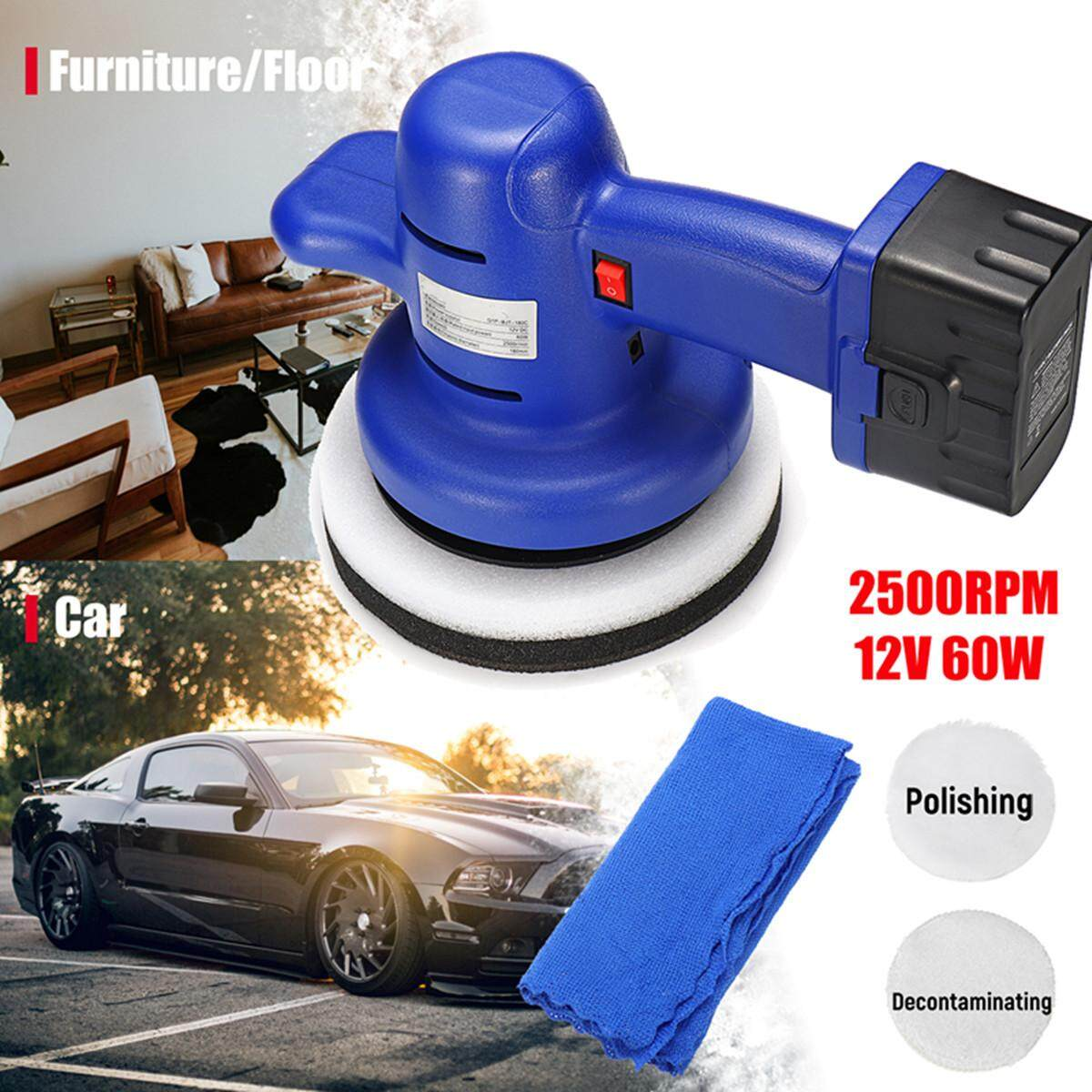 12v 2500rpm 7 Electric Cordless Car Polisher Buffer Car Polishing Waxer Tool By Audew.