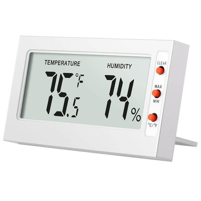 Fuan Indoor Digital Layar LD Slim Sederhana Interior Rumah Presisi Tinggi Hygrometer dengan Meteran Suhu Pengukur