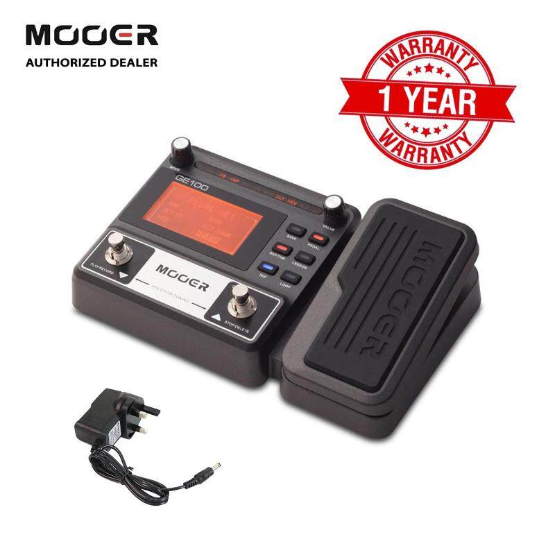Mooer GE100 Electric/Acoustic/Guitar/Violin/Ukulele Multi-Effects Pedal Processor with 80 presets Loop Recording(180seconds)Tuning Tap Tempo Rhythm Setting Scale & Chord Lesson Functions+ Free 9V power adapter Malaysia