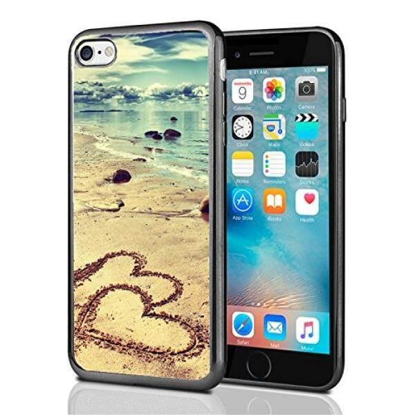 Smartphone Case S Pantai dengan Hati Di Pasir untuk iPhone 7 (2016) & iPhone 8 (2017) case Cover Atom Pasar-Intl