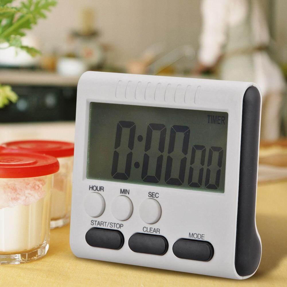Magnetic LCD Besar Pengatur Waktu Dapur Digital Alarm Count Up Down Jam 24 Jam