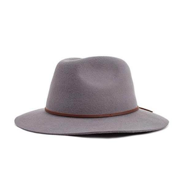 5e9a08d381fe7 Brixton Mens Wesley Brim Felt Fedora Hat, Light Grey, - intl