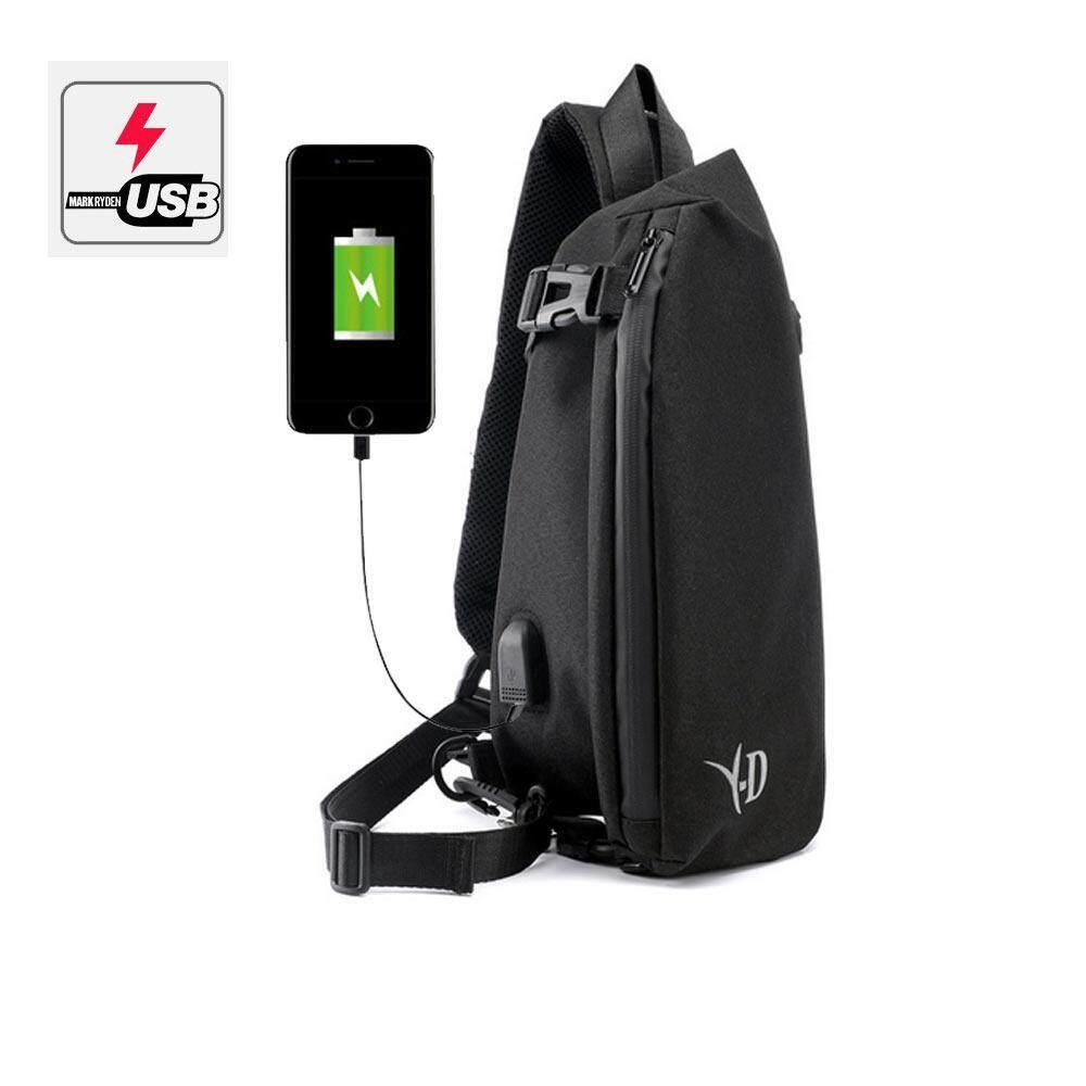 Treeone Unisex Canvas Chest Pack Outdoor Hiking Sport Travel Crossbody Shoulder Bag Rucksacks Wallet Bag