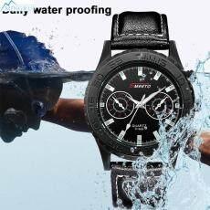 Mingrui Store Leather Quartz Watch Men'S Watches Wrist Watches Fashion Business