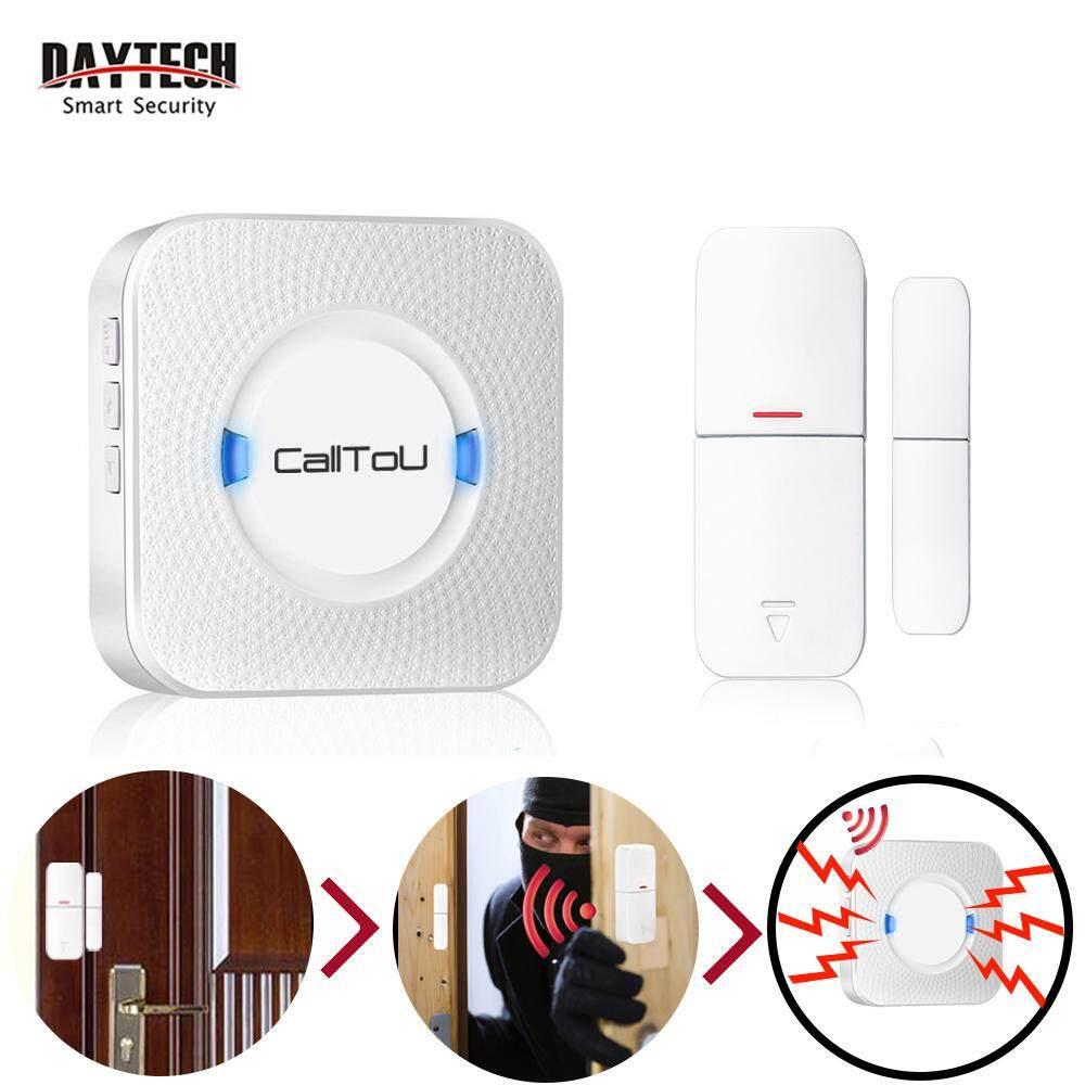 CallToU Wireless Door Sensor Open Chime Door Bell DIY Home Security Alarm System Entrance Entry Alert Detector Kit For Home Store Office