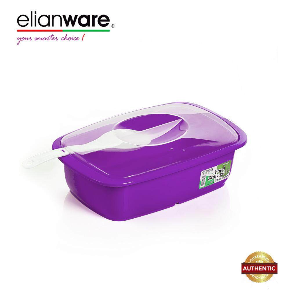 Elianware 2.6 Ltr Transparent Cover Food Serving Bowl with Scoop Bekas Kuih Raya