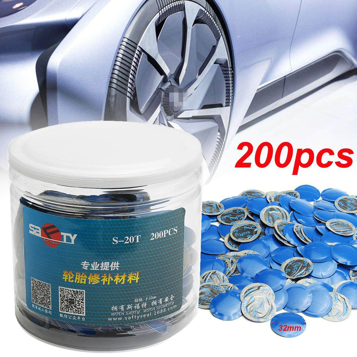 Universal 24pcs 32mm Natural Rubber Wired Tyre Puncture Repair Mushroom Patch By Audew.