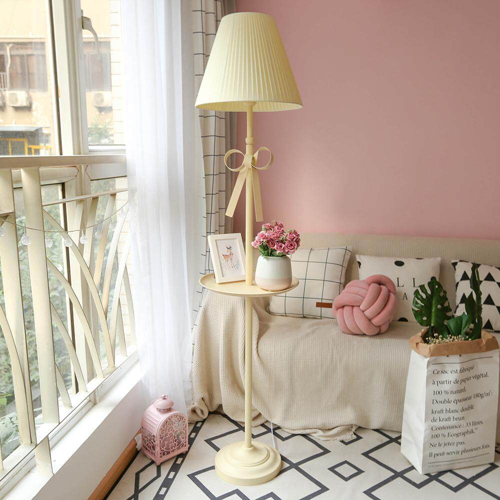 Nordic Style Princess Floor Lamp. Creative Vertical Floor Lamp. Childrens Room Pink High Table Lamp. Childrens Room Bedroom Bedside Lamp.
