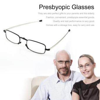 XIN Foldable Stainless Steel Presbyopic Glasses Eyewear Style Reading Glasses 1.5