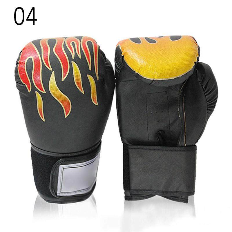 PAlight Adult Boxing Gloves PU Leather Sparring Kickboxing Training Gloves - intl