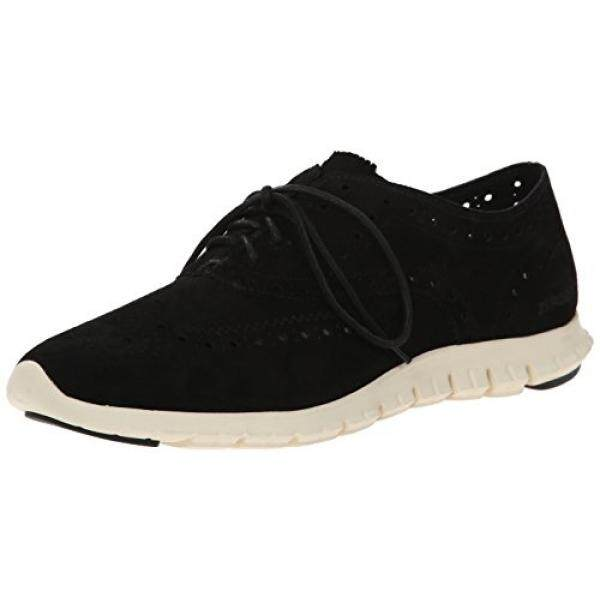 Cole Haan Womens Zerogrand Wing Ox Oxford, Black Suede, 9 B US - intl