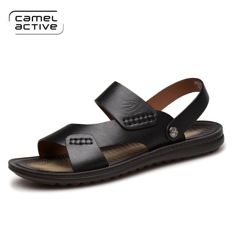 Jerman Camel Active Sandal Summer pria Kulit asli 2018 musim panas model baru kepribadian Sandal pantai Pria casual sendal adem pasang